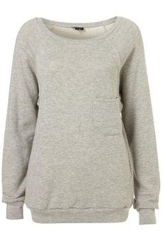 Grey Marl Pocket Sweatshirt  - StyleSays