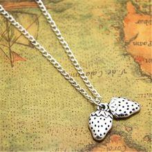 12pcs/lot Strawberry necklace Strawberry Charm pendant Strawberry Fruit Charm Jewelry(China (Mainland))