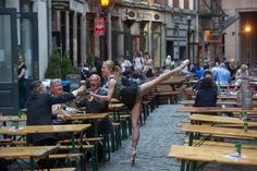 Stone Street, NYC - Michelle Joy in Jordan Matter's Dancers Among Us series