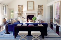 1. blue and white striped rugs habituallychic
