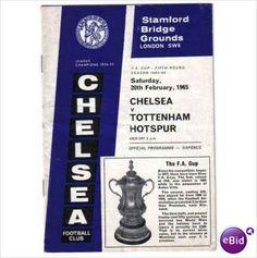Chelsea v Tottenham Hotspur 20.02.1965 FA Cup Football Programme Sale
