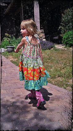 Summer Dress  Sleeveless Twirl  Sizes 12m 18m 2T by TwirlandTango, $35.00