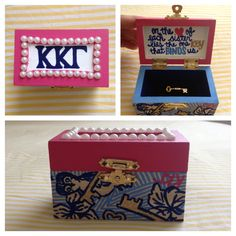 The Kappa pin box I made for myself. Lilly inspired!