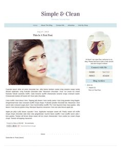 Premade Blogger Template  Simple Clean Minimalist by TheBlogShop Blog Layout, Blogger Templates, Blog Design, Modern Minimalist, Blogging, Infographic, About Me Blog, Cleaning, Simple