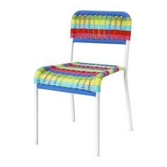 FÄRGGLAD Children's chair, multicolour multicolour -