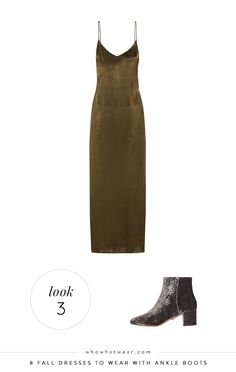 8 Fall Dresses to Wear With Ankle Boots via @WhoWhatWear
