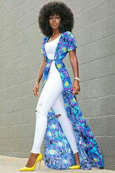 48 best ideas for moda boho casual ripped jeans African Print Fashion, African Fashion Dresses, African Dress, Kimono Fashion, Hijab Fashion, Fashion Outfits, Womens Fashion, Classy Outfits, Chic Outfits