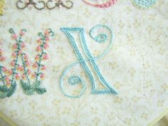 """Daisychain Sampler """"X"""" on Pretty by Hand at http://prettybyhand.com/blog/2012/7/2/daisychain-sampler-x.html"""