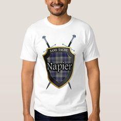 (Clan Napier Tartan Plaid Shield & Swords T-Shirt) #Clan #ClanNapier #Napier #Plaid #Scotland #Scottish #Shield #Sword #Swords #Tartan is available on Funny T-shirts Clothing Store   http://ift.tt/2gHMVYN