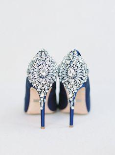 Blue wedding shoes f