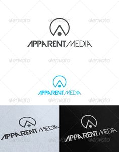 Apparent Media Logo Template — Photoshop PSD #media #printing • Available here → https://graphicriver.net/item/apparent-media-logo-template/2535253?ref=pxcr