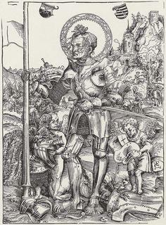 Artist: Cranach d. Ä., Lucas, Title: Hl. Georg stehend, Date: 1506