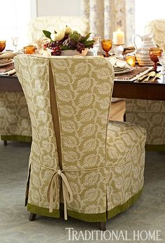 Decorating Dining Room Chairs For Thanksgiving - Dining Room : Hardrawgathering. Dining Chair Slipcovers, Dining Room Chairs, Office Chairs, Club Chairs, Furniture Upholstery, Home Furniture, Modern Furniture, Furniture Design, Luxury Interior Design