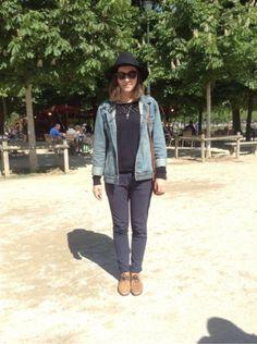 CHEAP MONDAY Veste - THE KOOPLES Pull, Sweat - REIKO Pantalon -  FAIRMOUNT Chaussures divers #women #mode #look #streetstyle http://moodlook.com/look/2014-04-15-france-paris-19
