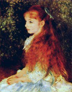 PIERRE-AUGUSTE RENOIR. Mademoiselle Iréne Cahen d'Anvers, 1880, oil on canvas.