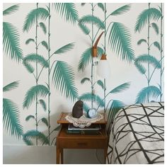 Papier peint feuilles vertes palmiers, Palm leaves