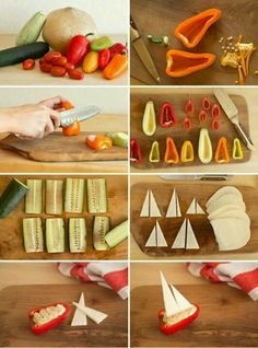 Too fun for summer snacks! Kids will love making and eating these little boats...
