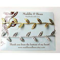 Gold and Silver Leaf Headband Set Bohemian Headbands by maddieandbean, $14.00. Newborn Leaf Crown. Photo Prop.