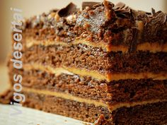 """Chocolate coffee cake """"King"""" Ingredients: For a biscuit: 250 g room temperature butter 440 g sugar 4 big eggs (room temperature) 400 g flour 80 g Cacao 2,5 teaspoon baking powder 0,5 teaspoon salt …"""