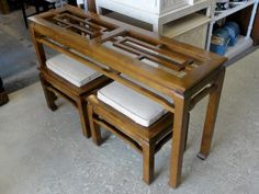 Fretwork Ming Console & Bench Set