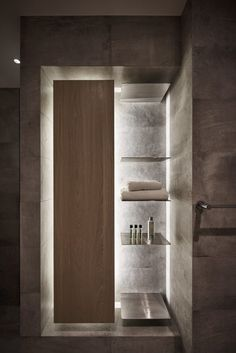 Light and dark playful arrangement bathroom in Taiwan - Xie Residence