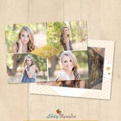 INSTANT DOWNLOAD 5x7 Graduation Announcement Card Photoshop Template - CA653