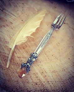 Crystalised Dessert Fork SilverWare Heirloom by WildEarthAustralia