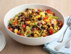 Black Bean and Corn Salad. I make this without the pineapple and honey - but I bet it would be good with those too.