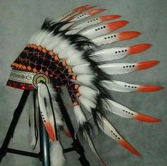 Choose from different Indian Headdresses and Native American Warbonnets! We happily accept custom orders, Handmade with Real Feathers and Beads Native American Headdress, Native American Clothing, Newborn Baby Photography, Newborn Session, War Bonnet, Feather Headdress, Newborn Babies, Photoshoot, Trending Outfits