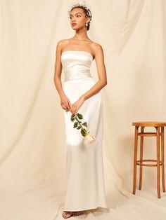 c0813512 Reformation Giotto Dress $528 Fancy Wedding Dresses, High Street Wedding  Dresses, Affordable Wedding Dresses
