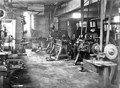 Auto Repair Shop 1920 Vintage Photo Digital Download