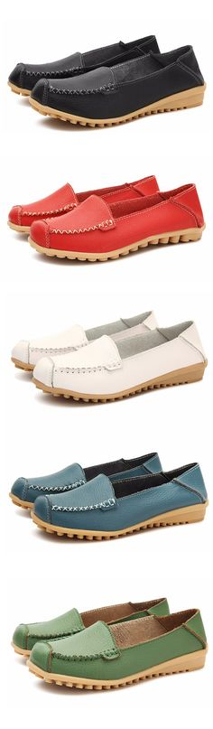 US$15.44 Leather Flat Shoes_ Women Shoes Flats_Plus Size Fashion For Women_Summer Outfits Women