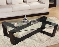 modern coffee table glass top