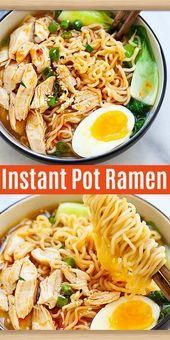 Instant Pot Ramen Instant Pot ramen with chicken, ra. Instant Pot Ramen Instant Pot ramen with chicken, ra. Instant Pot Dinner Recipes, Best Dinner Recipes, New Recipes, Vegetarian Recipes, Favorite Recipes, Healthy Recipes, Instant Pot Chinese Recipes, Instant Recipes, Easy Instapot Recipes