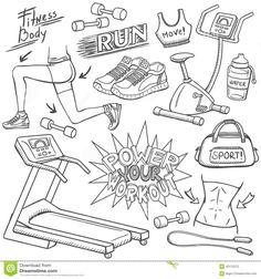 gym-doodles-set-hand-drawn-43112572.jpg (1300×1390)