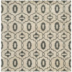 Safavieh Handmade Moroccan Chatham Beige Wool Rug (7' Square) | Overstock.com Shopping - The Best Deals on Round/Oval/Square