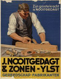 Buy online, view images and see past prices for Poster by Monogram VE - Nooitgedagt & Zonen-Ylst. Vintage Advertisements, Vintage Ads, Vintage Posters, Old Tools, Metal Tools, Poster Display, Old Commercials, Art Deco Posters, Advertising Poster