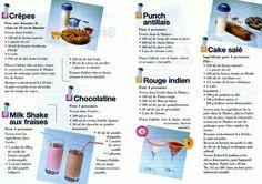 Fiche recette Shaker 350 ml 2/2 - Tupperware : crêpes, milk shake aux fraises, chocolatier, punch antillais, rouge indien, cake salé Shaker Tupperware, Tupperware Recipes, Milk Shakes, Keep Calm And Drink, Milkshake Recipes, French Desserts, Crepes, Cocktails, Punch