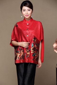 Shop graceful oriental red draped linen casual women's outwear shawl. Find latest oriental fashion products from idreammart.com.