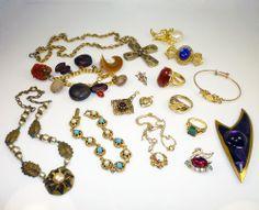 Fabulous Vintage Jewelry Lot Gold Filled Designer Rings Necklaces Bracelets & More!