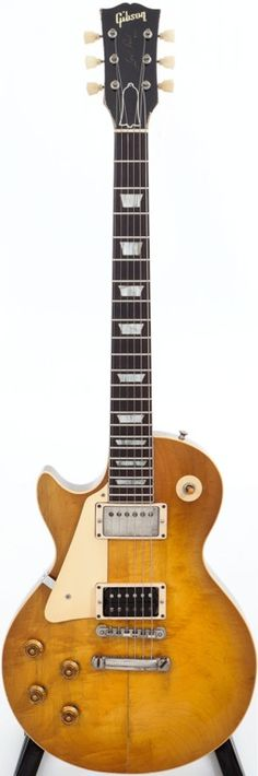 1959 Gibson Les Paul Standard Sunburst Left-Handed Solid Body Electric Guitar. One of only two manufactured. Recently at auction the starting bid was $62K. Expected to sell for $125K.