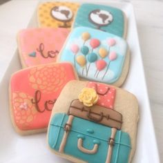 Vintage travel cookies // Arty McGoo