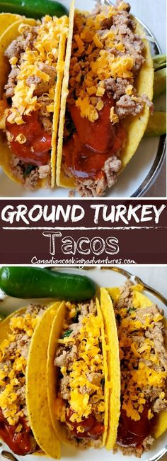 These Spicy Ground Turkey Tacos are absolutely delicious! And make for an excellent quick dinner option. Ground Turkey Dinners, Ground Turkey Meatballs, Ground Turkey Meal Prep, Healthy Ground Turkey, Ground Turkey Recipes, Turkey Meals, Ground Turkey Lettuce Wraps, Ground Turkey Stuffed Peppers, Ground Turkey Tacos