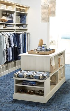 Delicieux Make The Mornings Peaceful With Designs From TCS Closets. More Walk In  Closet Dressing Room Island