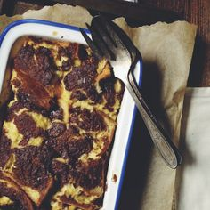 Marbled baked French toast