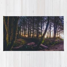 Wooded Tofino Rug by Mixed Imagery   Society6