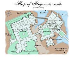 Harry Potter Hogwarts castle map