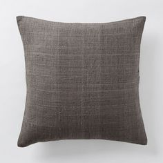 West Elm - Silk Hand-Loomed Pillow Cover - Shale