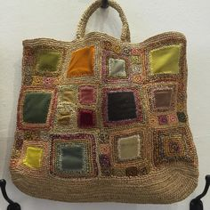 cambridgeimprint: Gorgeous Sophie Digard bag – My All Pin Page Crochet Handbags, Crochet Purses, Crochet Bags, Crochet Shell Stitch, Knit Crochet, Purse Patterns, Fabric Bags, Knitted Bags, Crochet Accessories