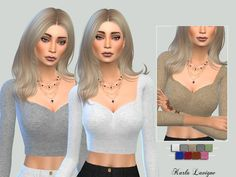 The Sims Resource: Cassy Crop Top by Karla Lavigne • Sims 4 Downloads